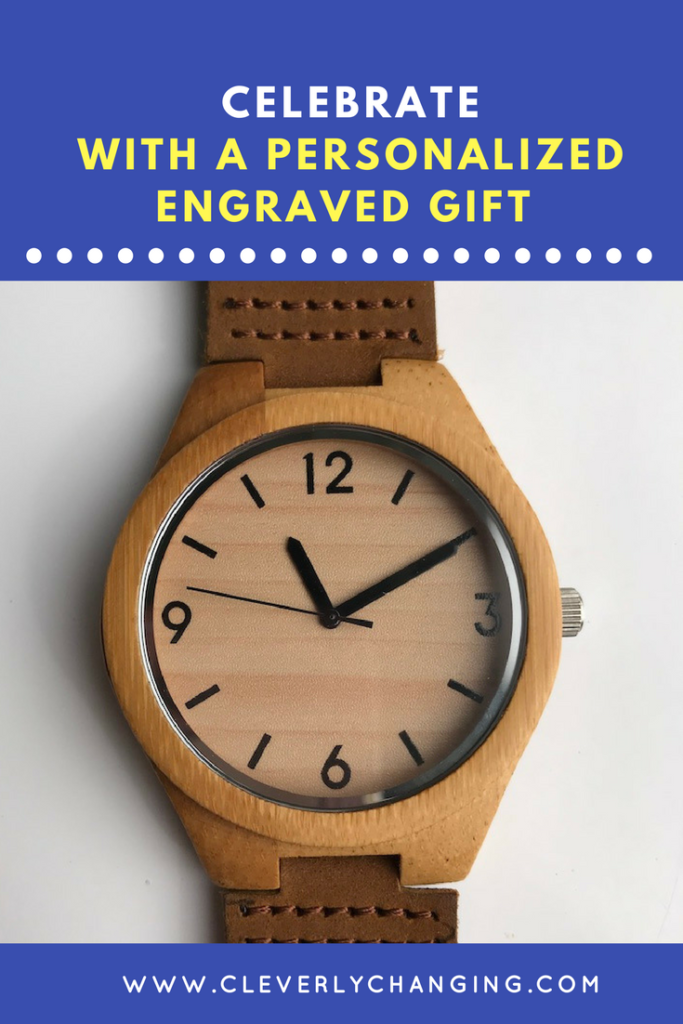 Add A Personal Touch For An Anniversary by giving a personalized engraved gift like a personalized watch.