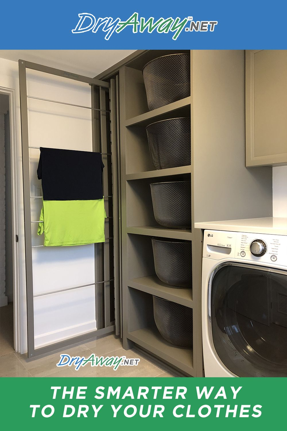 Eco Friendly Built In Laundry Room Clothes Drying Racks Dryaway Clothes Drying Racks Laundry Room Laundry Room Design