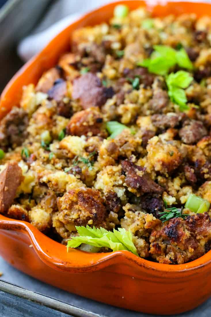 Sausage Cornbread Dressing | Cornbread Stuffing Recipe -   18 stuffing recipes for thanksgiving with sausage cornbread dressing ideas