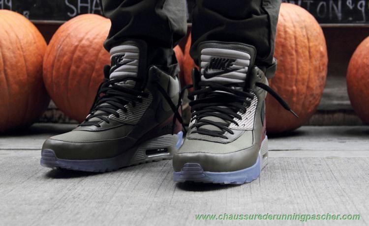 meilleurs chaussures de running Hommes Dune sombre Dune sombre/Noir-Marron rouille 684722-200 Nike Air Max 90 SneakerBoot Ice