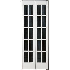 Pinecroft 35 12 in x 78 34 in 10 lite french solid core pine pinecroft classic french glass wood universalreversible interior bi fold door 872526 at the home depot mobile planetlyrics Image collections