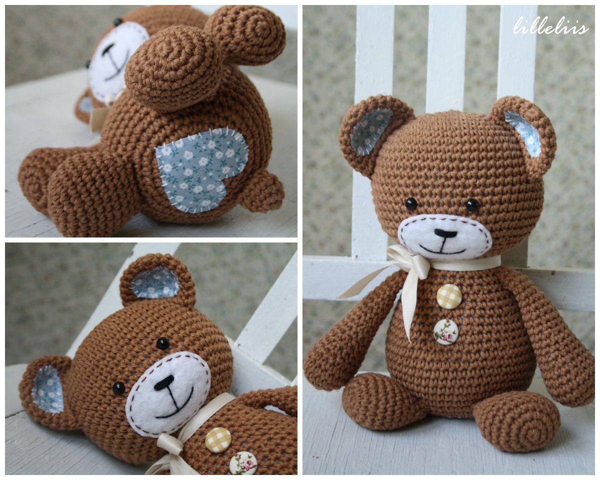 Resultado de imagem para ursinho amigurumi   Urso de crochê, Ursos ...   960x1200