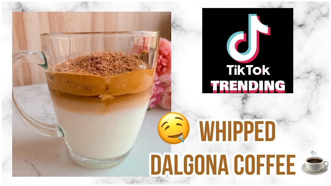Making The Viral Dalgona Coffee At Home ☕️ Tik Tok