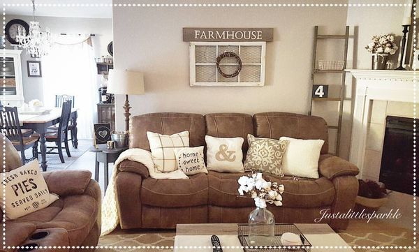 captivating country living rooms brown couches | Pin by Teah Tracy on Home in 2019 | Brown couch living ...