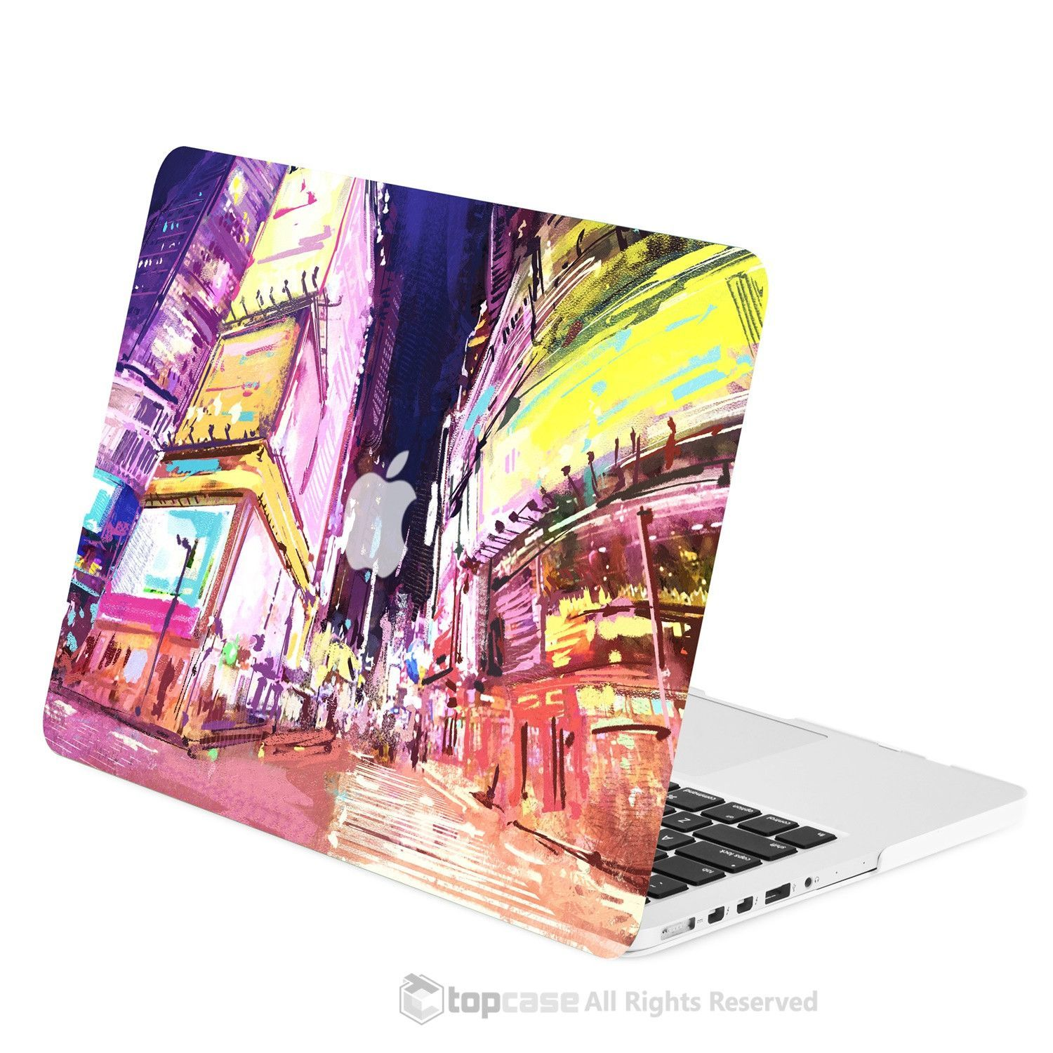 "TOP CASE - Art Printing Series Hard Case for Macbook Pro 13"" with Retina Display - City Night Street"