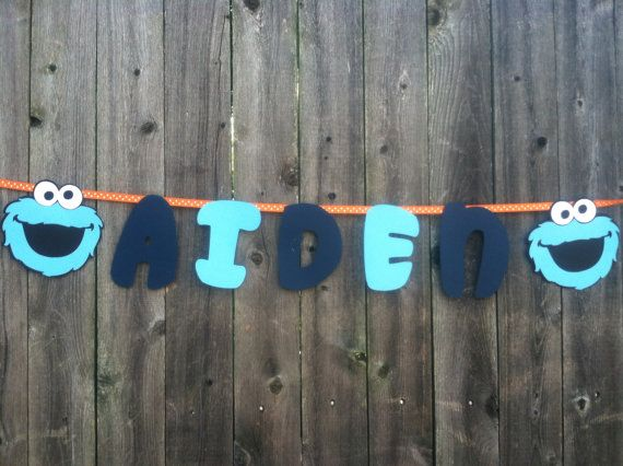 Cookie Monster Name Banner