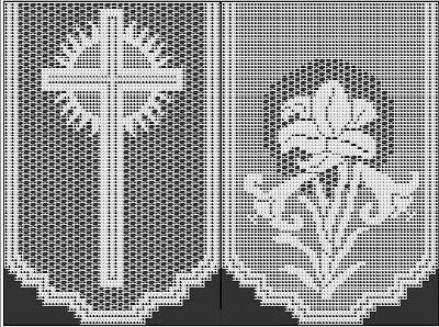 Lily altar filet crochet - Buscar con Google Mantel Filet crochet, cruces y azucenas, Mariano, Virgen Marìa