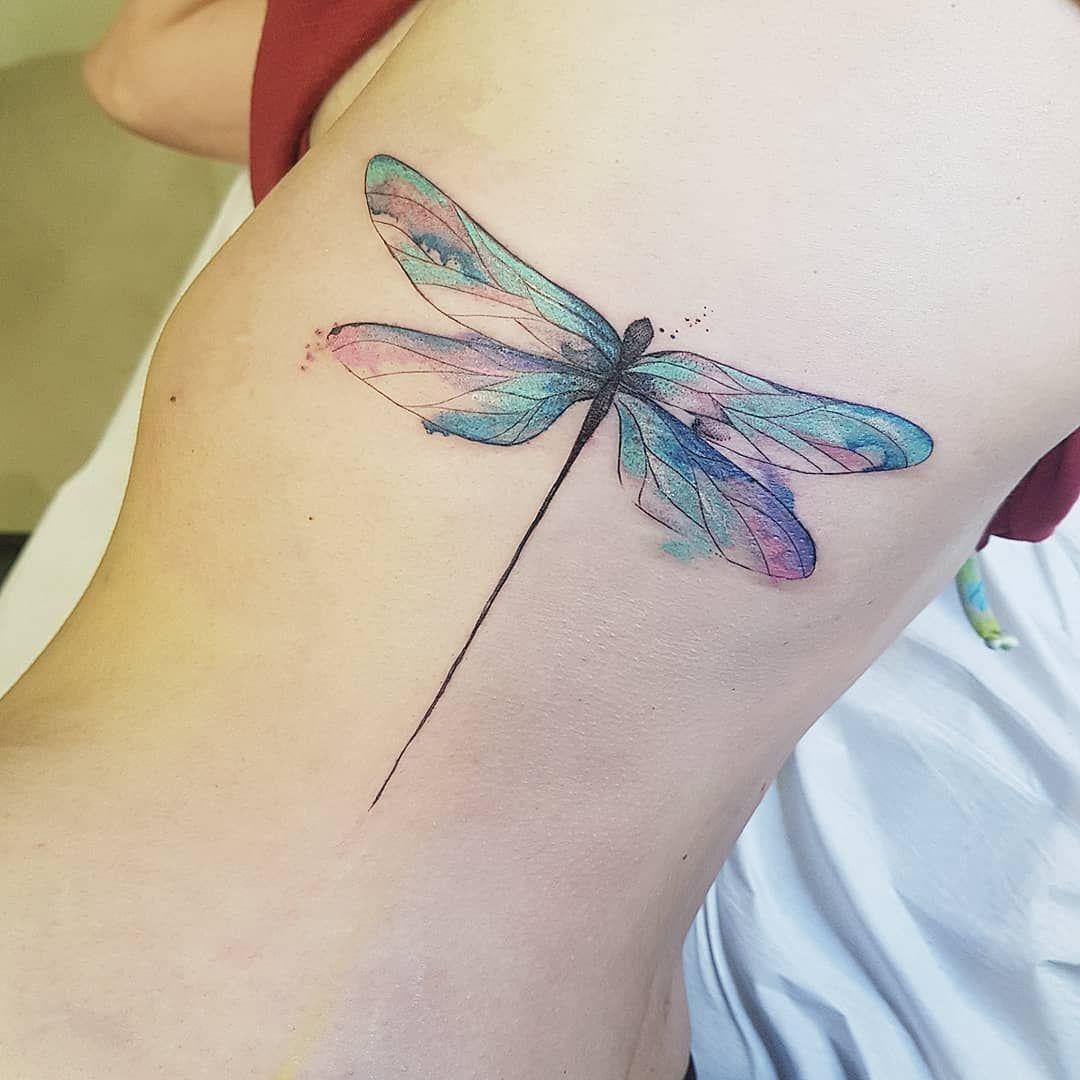 Sobre Crescimento Libelula Metamorfose Libelulatattoo Watercolor Tattoo Sptattoo E Watercolor Dragonfly Tattoo Dragonfly Tattoo Design Dragonfly Tattoo