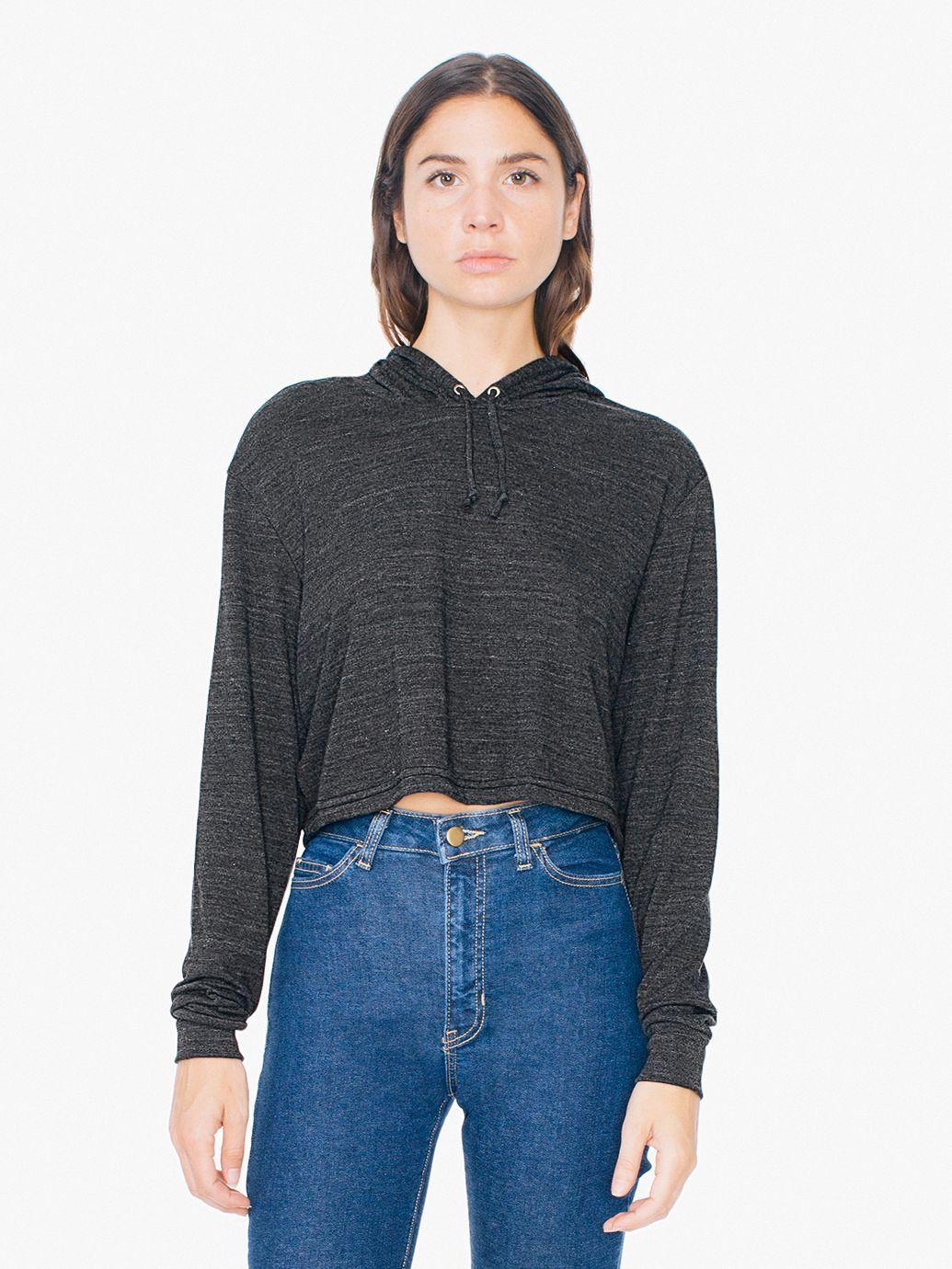 fe795189e1 Tri-Blend Pullover Crop Hoodie