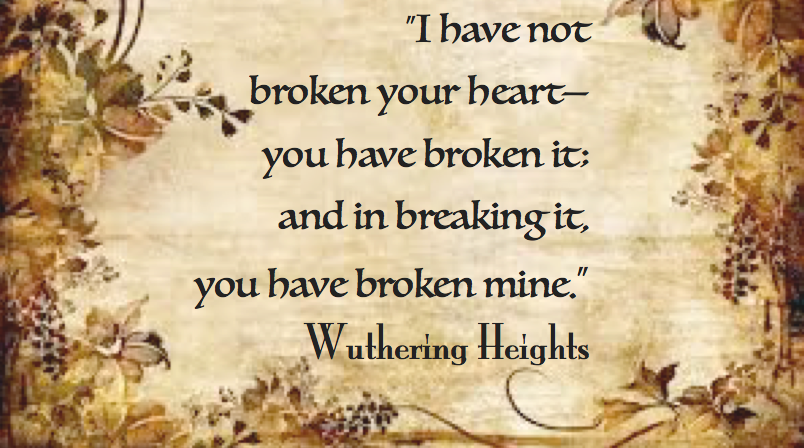 the mourning for lost love in wuthering heights by emily bronte and the raven by edgar allan poe Effective literary elements in emily bronte's wuthering heights 1565 words | 7 pages effective literary elements in wuthering heights critics analyze and examine wuthering heights to obtain a deeper understanding of the message that emily bronte wants to convey.