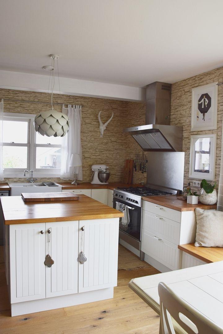 Neue Farben für Küche und Esszimmer Von der Steintapete zur - küche streichen welche farbe