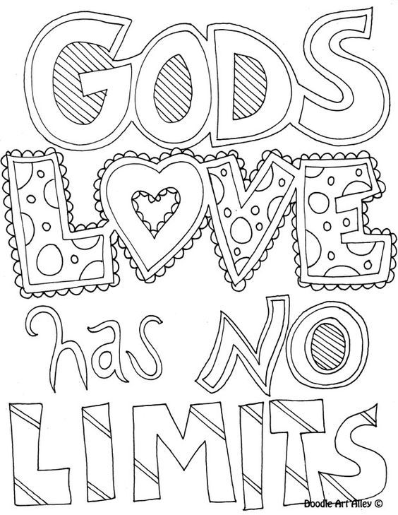 Gods Love Has No Limits Printable Doodle Coloring Pages Sunday