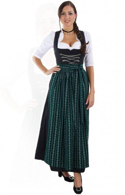 b3421d72727fc4 Oktoberfest dirndl apron SC190 forest green   Dirndl Aprons   Dirndl ...
