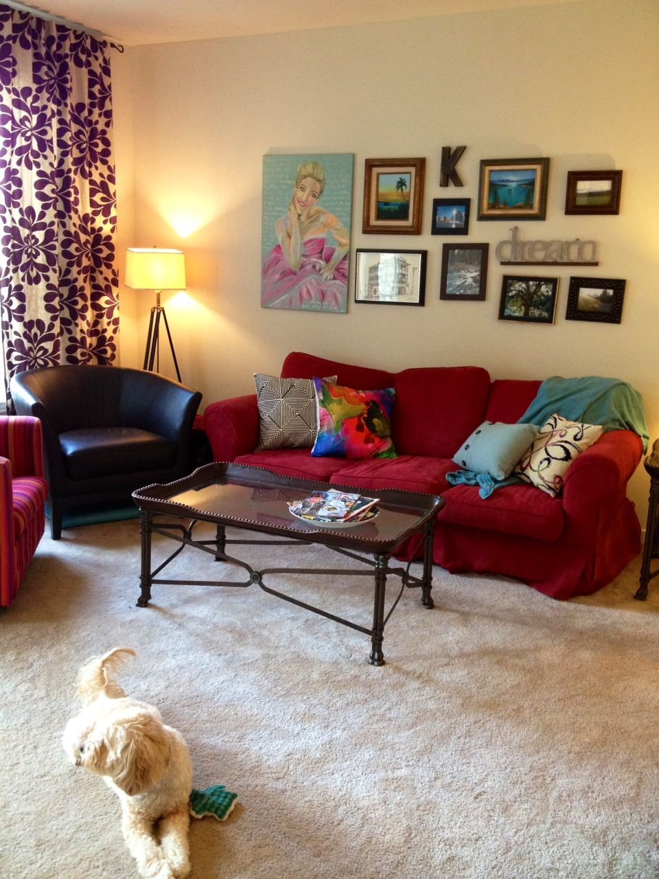 Red Sofa Small Living Room Interior Decorating Design Ideas