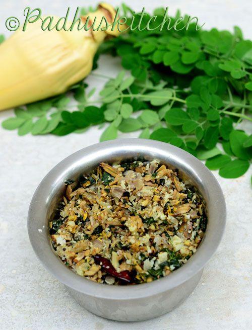 Vazhaipoo Murungai Keerai Poriyal Drumstick Leaves Banana Flower Stir Fry Recipe Spicy Recipes Veg Recipes Vegetarian Dishes