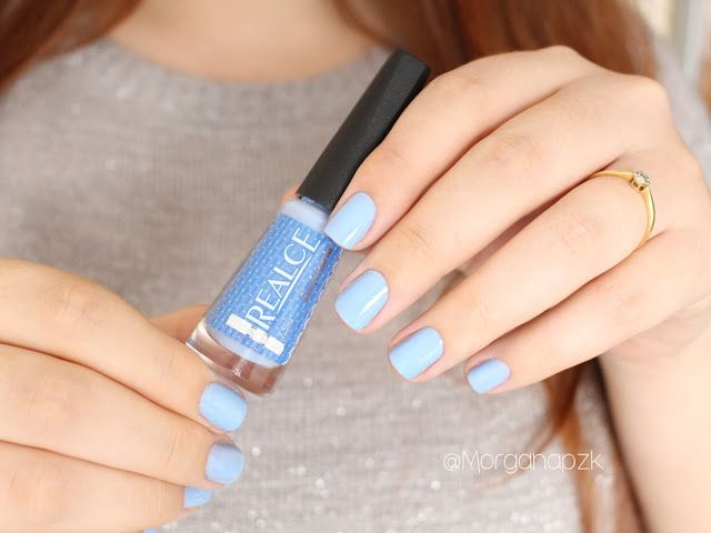 Esmalte Confeitaria da Realce. #UnhasAzuis #Unhas #Nails #BlueNails #NailPolish by @morganapzk