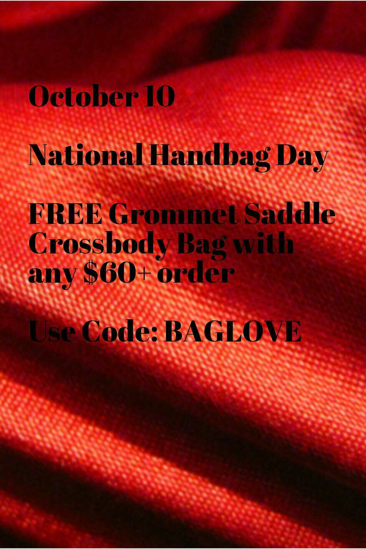 FREE CROSSBODY SADDLE BAG WITH $60+ order  AVON COUPON CODE: BAGLOVE