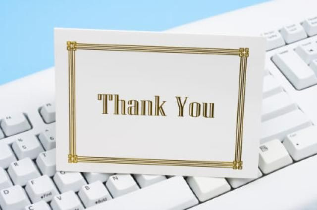 Sample Thank You Notes and Email Messages Appreciation Thank You - sample thank you notes