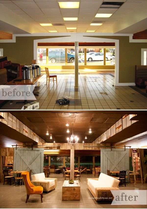 Gray Youth Group Rooms: The Well Coffee House : Before + After