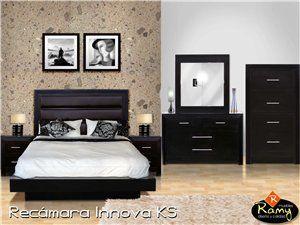 Base ramy innova chocolate ks muebles de recamara 323477 for Innova muebles