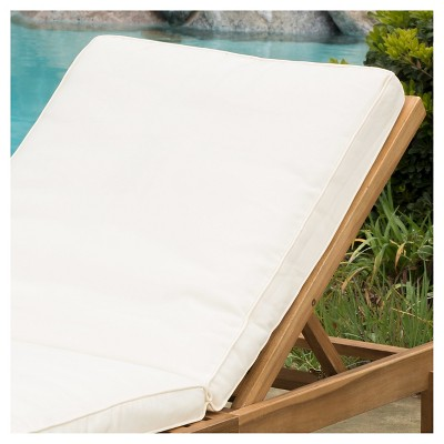 22d1396cdeb Ariana Acacia Wood Patio Chaise Lounge with Cushion -Teak Finish - Christopher  Knight Home