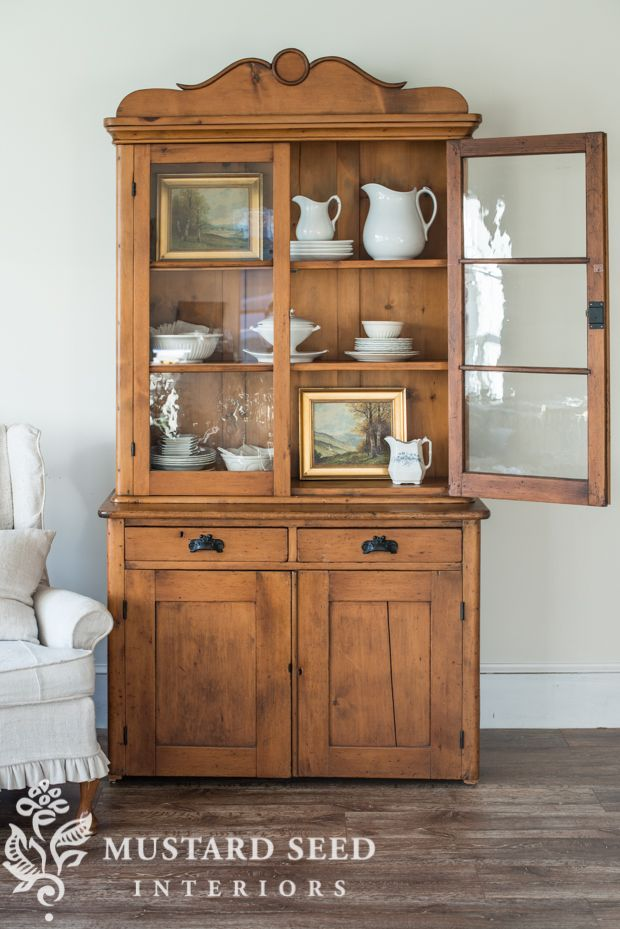 Antique Pine Hutch  Mustard Seed Mustard And Pine New Antique Dining Room Hutch Design Ideas