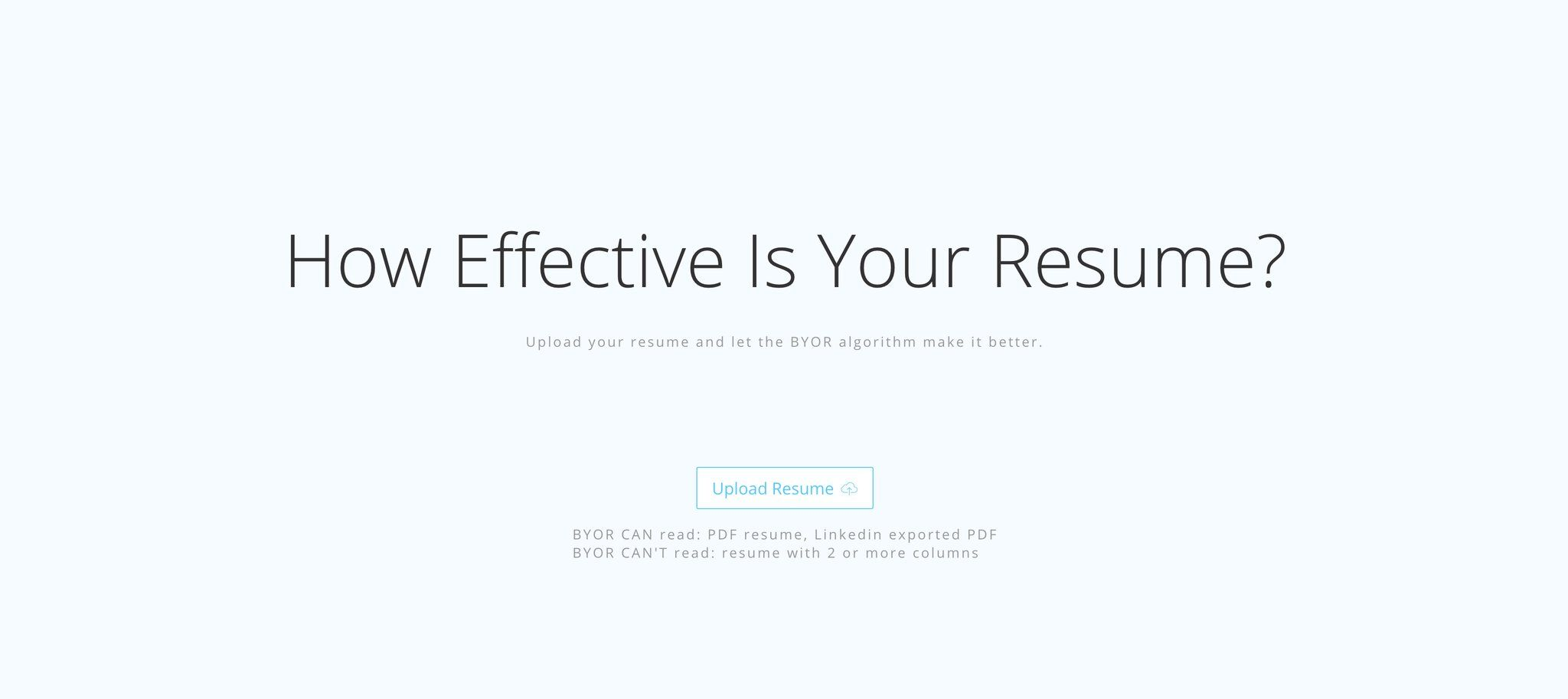 Upload your resume and have AI analyze it to see if it's  https://t.co/Y2DRRWZn9X https://t.co/xtuUADyo3e