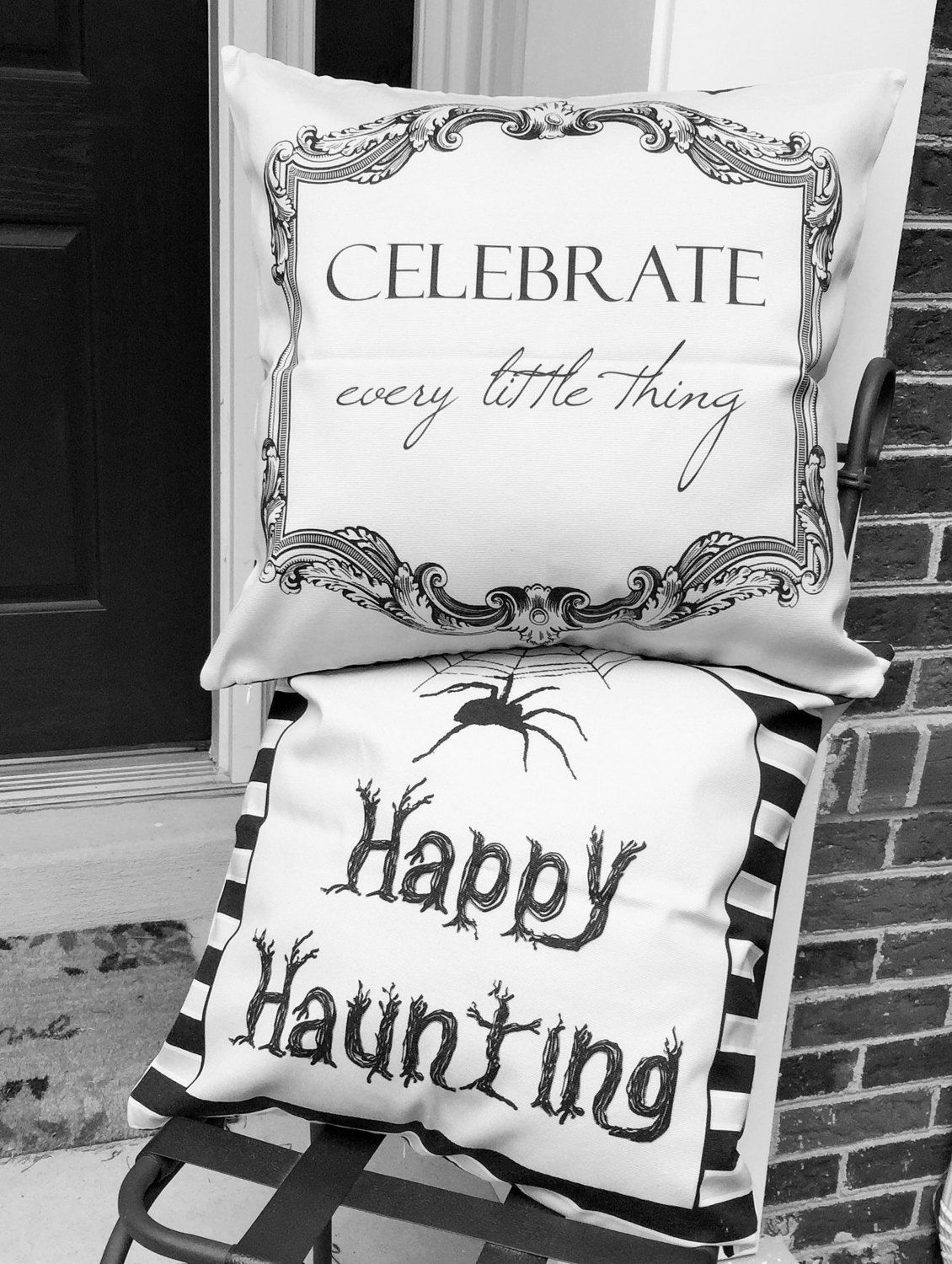 Halloween pillow,Halloween sign,Halloween deocrations,Halloween party,Halloween outdoor pillow,Halloween lights,Halloween outdoor decoration - pinned by pin4etsy.com