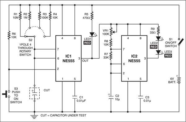 Electrolytic Capacitor Tester Circuito Electronico Electronica
