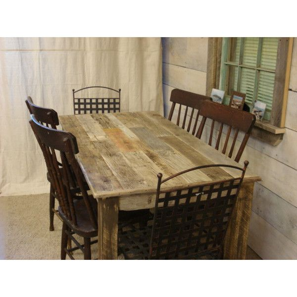 Driftwoodtreasures Driftwood Table (84 X 30 X 30 ($900) ❤ Liked On Polyvore  Featuring Home, Furniture, Tables, Dining Tables, Dining Room Furniture,  Grey, ...