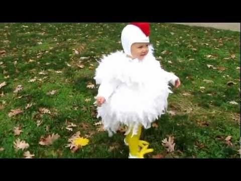 cutest chicken homemade costume halloween huhn kost me. Black Bedroom Furniture Sets. Home Design Ideas