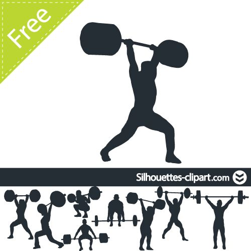 weight lifting vector silhouette silhouettes clipart silhouettes rh pinterest com weight lifting logs weight lifting logs free printable version