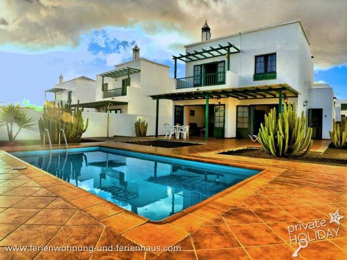 Schöne Ferienhaus mit Privatpool in Playa Blanca