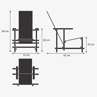 Gerrit rietveld design de moveis cadeiras de paletes e for Mobilia anos 40