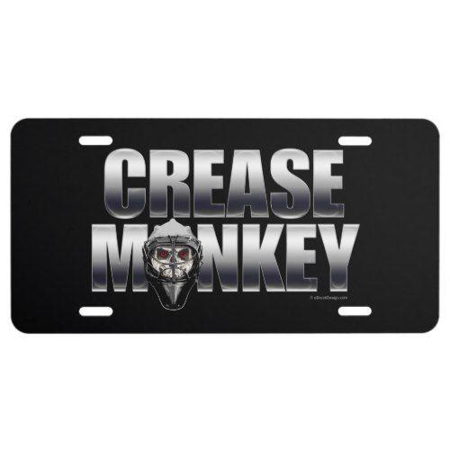 Crease Monkey Hockey Goalie License Plate Zazzle Com Hockey Goalie Hockey Monkey