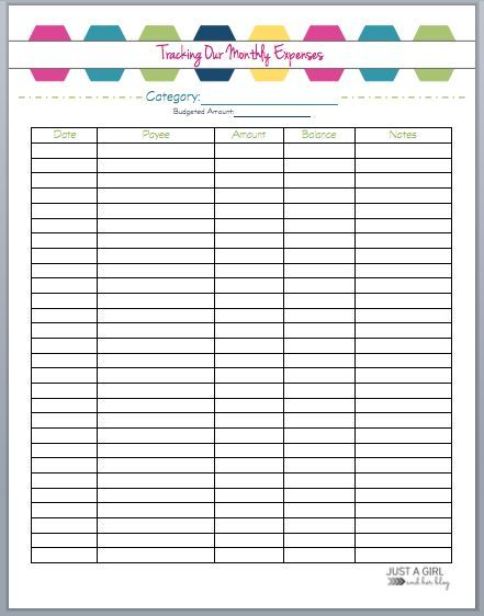 The 2018 Budget Binder Free printables, Budgeting and Binder - expense sheets template