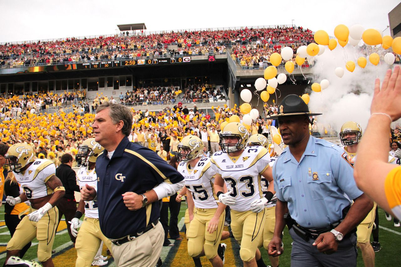 Coach Paul Johnson and the Yellow Jackets