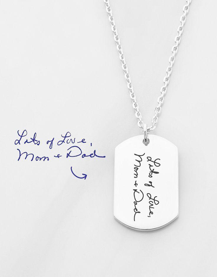 Memorial Handwriting Jewelry Handwritten Jewelry Actual Handwriting Necklace Handwritten Necklace Silver Loss of Husband Keepsake