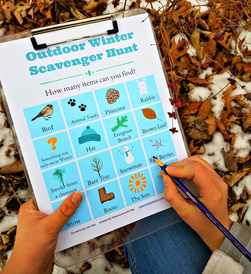 FREE Winter Scavenger Hunt (with printable list