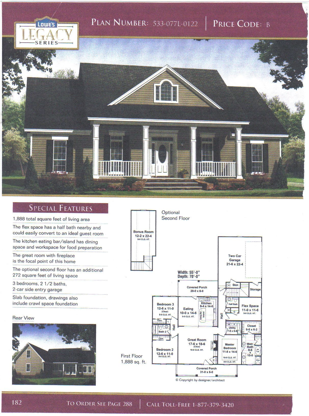 House Plan 4 Bedrooms 2 1 2 Bath Bonus Room Upstairs Open Living Room Kitchen And Large Front A Sims House Plans House Blueprints Ranch Style House Plans