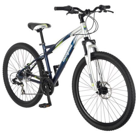 29 inch Mongoose Stat Men's Mountain Bike, Blue/Silver