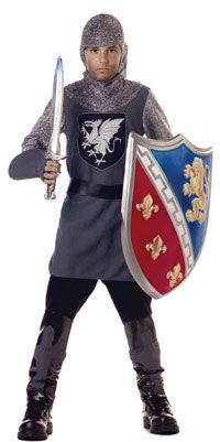 Lapset keskiaikainen urhea ritari asu - keskiaikainen asuja