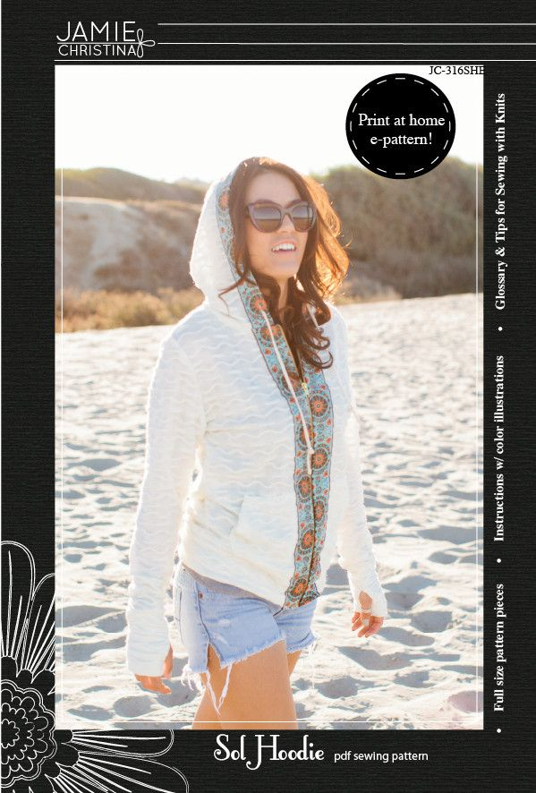 Sol Hoodie e-pattern | Pinterest | Patterns, Sewing projects and ...