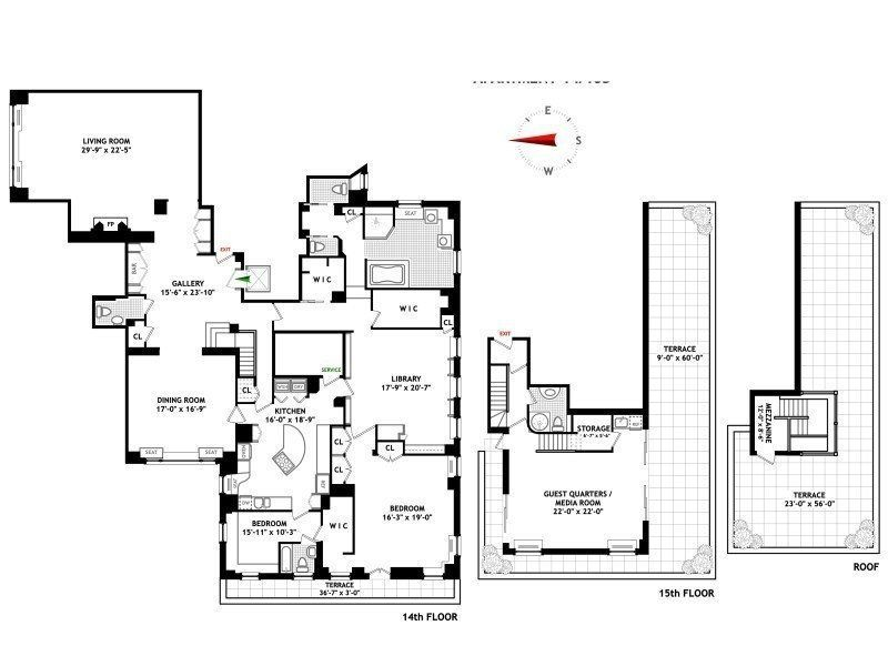 River House Penthouse Triplex Wants 14 95 Million River House New York Apartments Floor Plans