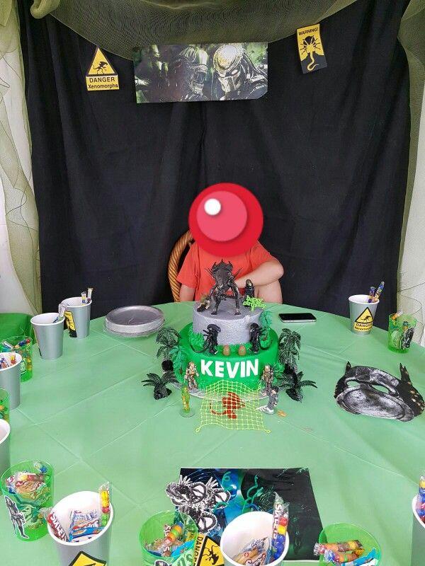 Aliens Vs Predator Birthday Party Decoration Simple