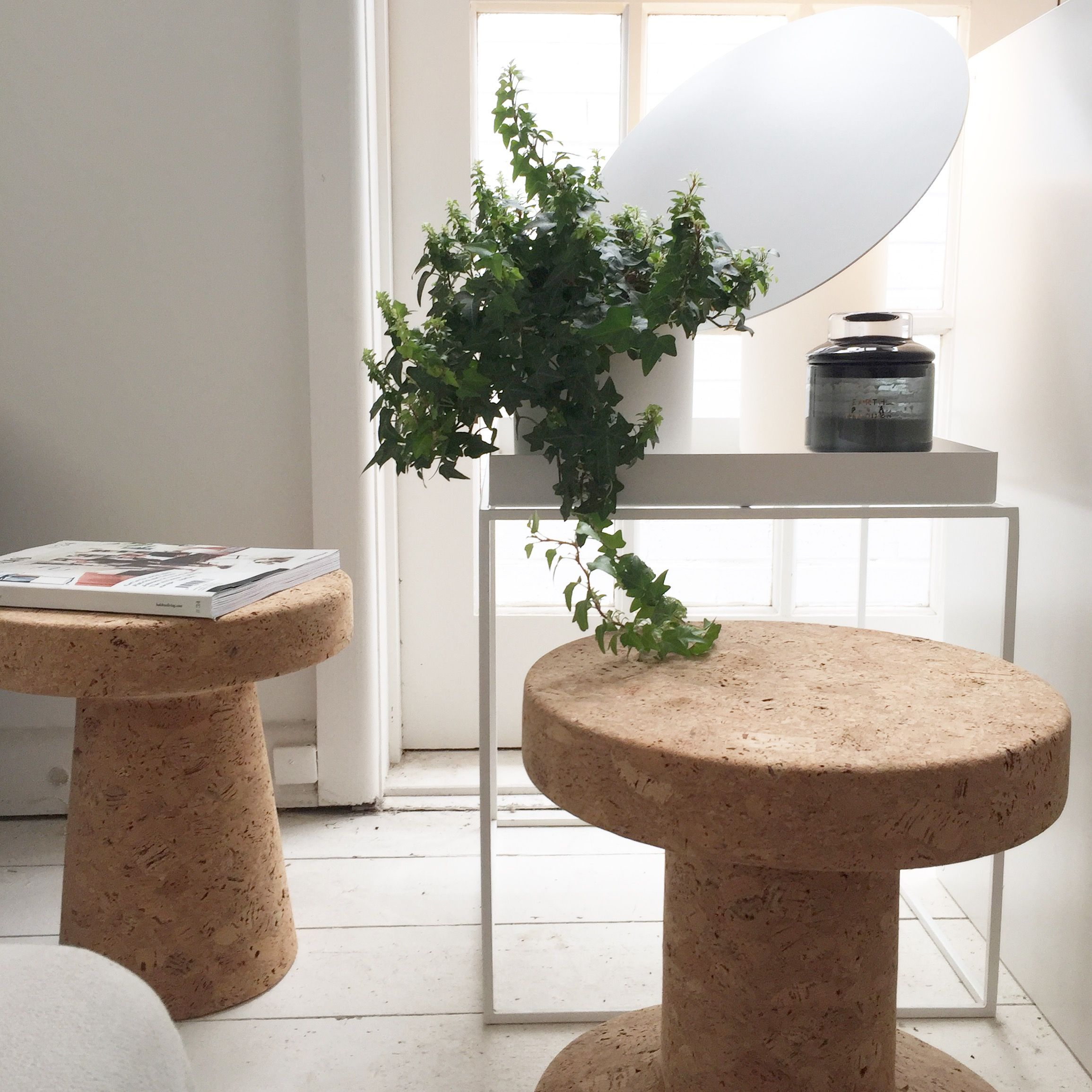 Cork Furniture: The Vitra Cork Family Stools, Available At Obtain Design
