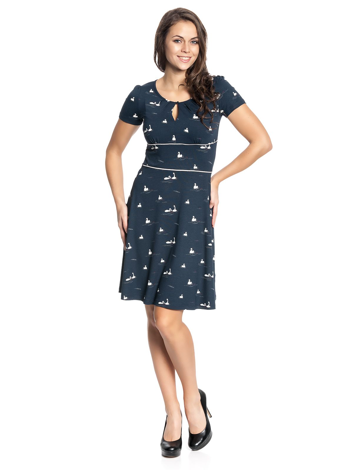 new product a603f 7d1eb Vive Maria My Swan Dress navy | Fashion | Dresses, Dress ...