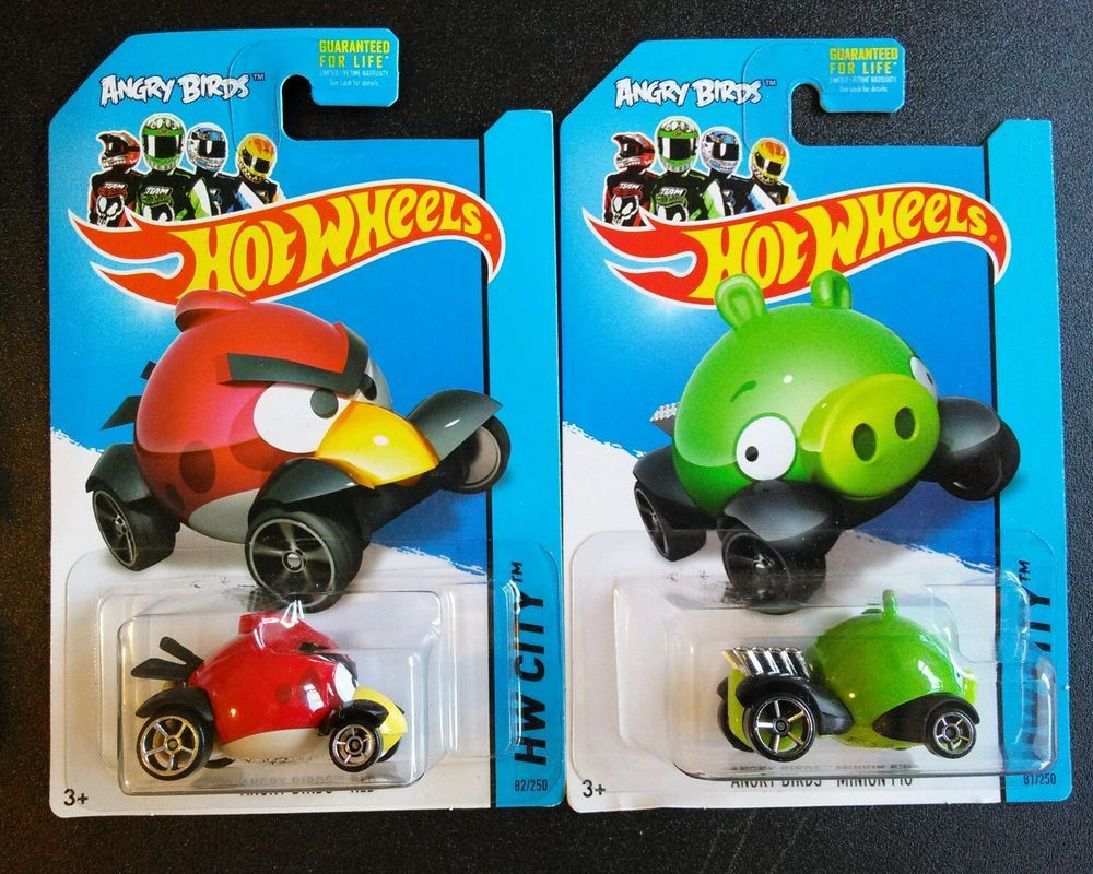 Hw hot wheels 2015 hw city 48 250 canyon carver police motorcycle - Angry Birds Lot Of 2 Hot Wheels Minion Pig Red Bird In Toys Hobbies