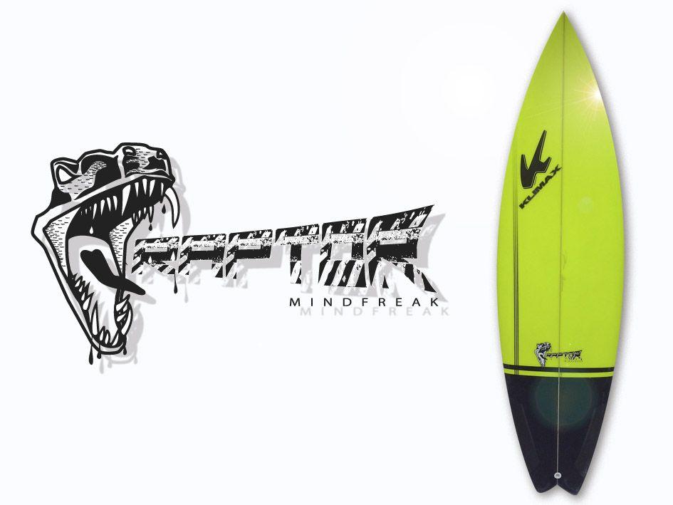 Cliente: Klimax Surfboards International; http://www.klimaxsurf.com/ Encargo: Diseño de logotipo RAPTOR; Es un shape high performance diseñado para olas exigentes y sin duda alguna forma parte de los últimos diseños de Klimax Surfboards Internacional que mejores info en: http://www.klimaxsurf.com/raptormodel.html