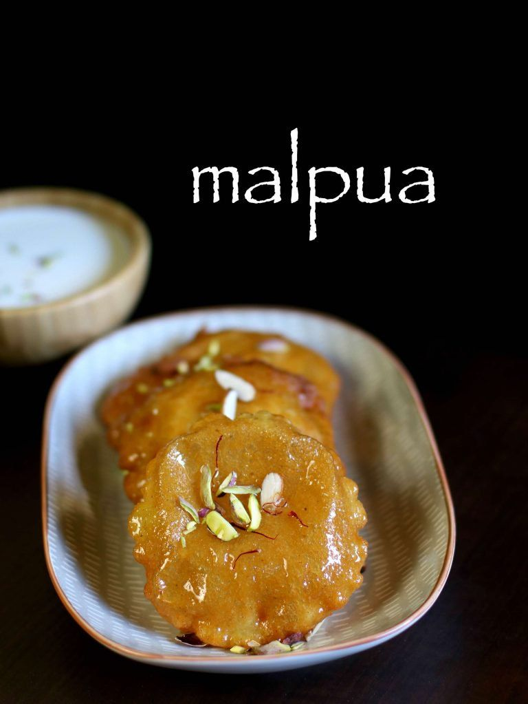 malpua recipe malpura recipe how to make easy malpua recipe food recipes food indian on hebbar s kitchen sweets id=17223